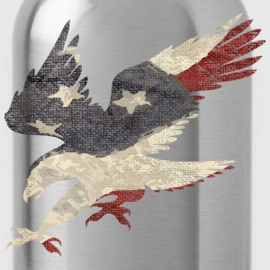Old Glory American Flag Eagle Women's T-Shirts - Water Bottle