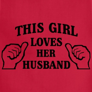 This Girl Loves Her Husband Women's T-Shirts - Adjustable Apron