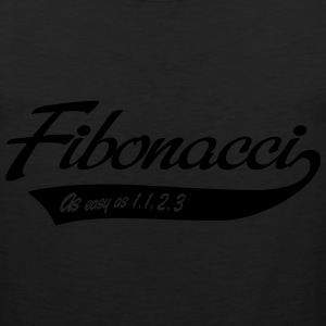 Fibonacci. As easy as 1, 1, 2, 3 T-Shirts - Men's Premium Tank