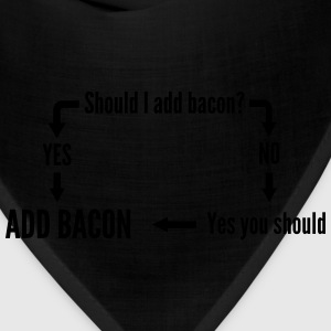 Should you eat bacon diagram T-Shirts - Bandana