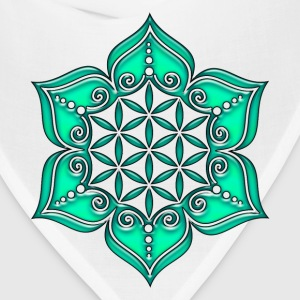 Flower of life, Lotus - Flower, green, Symbol of perfection and balance Women's T-Shirts - Bandana