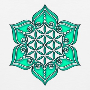Flower of life, Lotus - Flower, green, Symbol of perfection and balance Women's T-Shirts - Men's Premium Tank