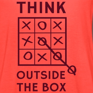 Think outside the box tic tac toe T-Shirts - Women's Flowy Tank Top by Bella