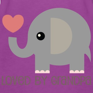 Loved By Grandpa Baby t-shirt (elephant) - Women's Premium Tank Top