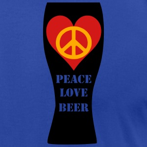 Peace Love Beer Unisex Fleece Zip Hoodie (Double S - Men's T-Shirt by American Apparel