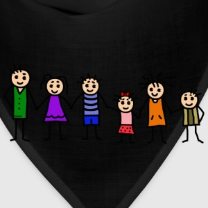 large family - patchwork family - colorful T-Shirts - Bandana