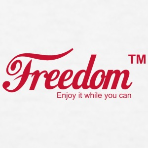 Freedom Mug (a coca cola coke parody) - Men's T-Shirt