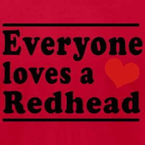 Everyone Loves a Redhead Tanks - Men's T-Shirt by American Apparel