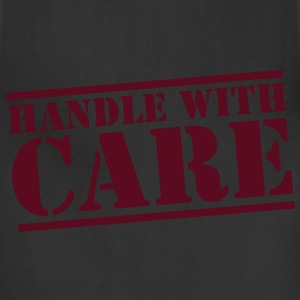 HANDLE with CARE in stencil Long Sleeve Shirts - Adjustable Apron