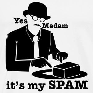 Yes Madam it's my SPAM with top hat man pointing Long Sleeve Shirts - Men's Premium T-Shirt