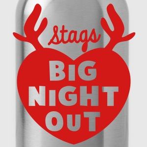STAGS big NIGHT out wedding Bachelor english STAG T-Shirts - Water Bottle