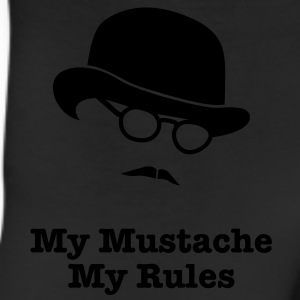 MY MUSTACHE - MY RULES bowler hat glasses T-Shirts - Leggings