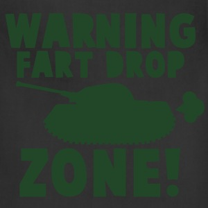 WARNING! fart DROP ZONE! stinky military tank T-Shirts - Adjustable Apron