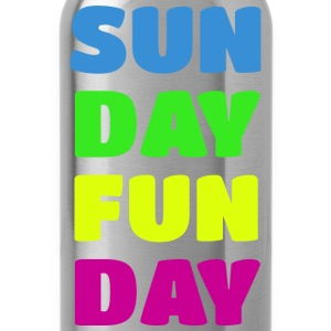 Sunday Fun Day Colorful Design T-Shirts - Water Bottle