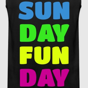 Sunday Fun Day Colorful Design T-Shirts - Men's Premium Tank