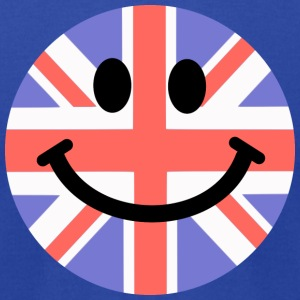 British Flag Smiley Face Hoodies - Men's T-Shirt by American Apparel