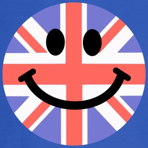 British Flag Smiley Face Hoodies - Men's Long Sleeve T-Shirt