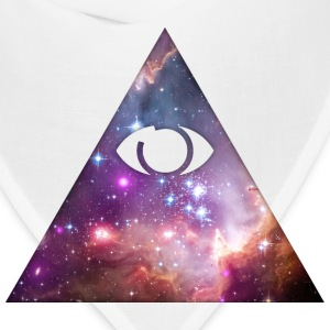 Illuminati, All Seeing Eye, Pyramid, Galaxy, Space T-Shirts - Bandana