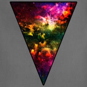 Colorful Galaxy Triangle Women's T-Shirts - Adjustable Apron