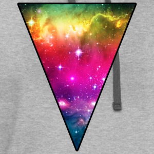 Rainbow Space Triangle T-Shirts - Contrast Hoodie