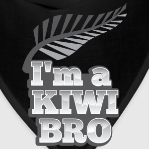 I'm a kiwi BRO in silver NEW ZEALAND T-Shirts - Bandana
