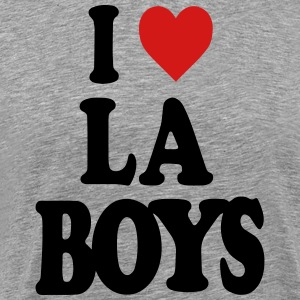 I LOVE LOS ANGELES BOYS-LA Long Sleeve Shirts - Men's Premium T-Shirt