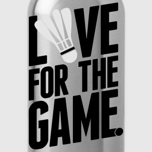 badminton - love for the game Long Sleeve Shirts - Water Bottle