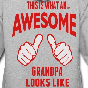 This Is What An AWESOME GRANDPA Looks Like T-Shirts - Contrast Hoodie