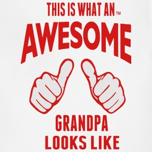 This Is What An AWESOME GRANDPA Looks Like T-Shirts - Adjustable Apron