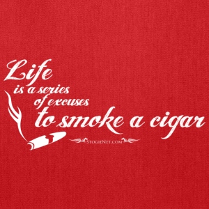 Life is a series of excuses to smoke a cigar T-Shirts - Tote Bag