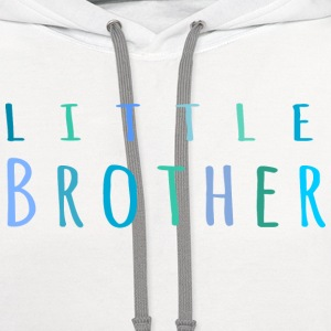 Little Brother in blue T-Shirts - Contrast Hoodie