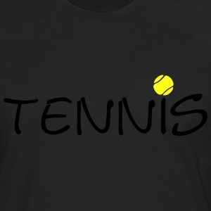 Tennis Ball Racket Court Game 2c Hoodies - Men's Premium Long Sleeve T-Shirt