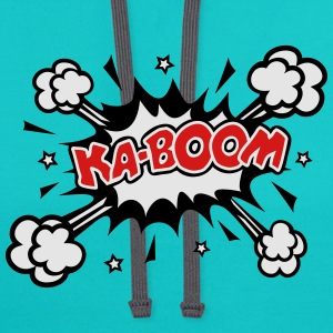 KABOOM, comic speech bubble, cartoon, explosion T-Shirts - Contrast Hoodie