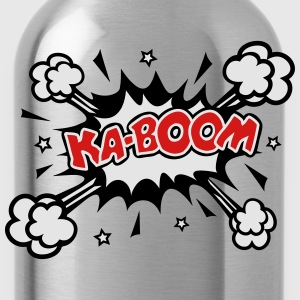 KABOOM, comic speech bubble, cartoon, explosion T-Shirts - Water Bottle