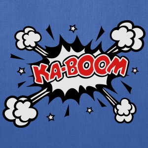 KABOOM, comic speech bubble, cartoon, explosion T-Shirts - Tote Bag