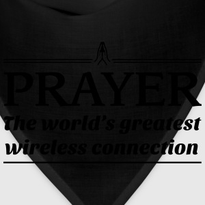 Prayer.World's greatest wireless connection T-Shirts - Bandana