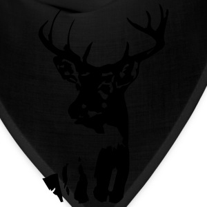 Whitetail Buck Mens T-shirt Brown - Bandana