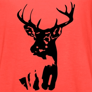 Whitetail Buck Mens T-shirt Brown - Women's Flowy Tank Top by Bella