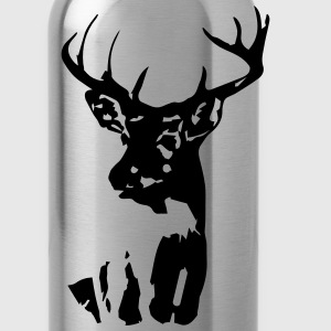 Whitetail Buck Mens T-shirt Brown - Water Bottle