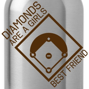 Diamonds are a girls best friend Tanks - Water Bottle