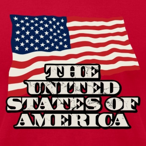 The United States of America - Men's T-Shirt by American Apparel