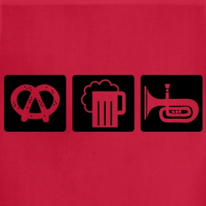 oktoberfest: pretzel + beer + folk music T-Shirts - Adjustable Apron