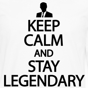 Keep calm and stay legendary T-Shirts - Men's Premium Long Sleeve T-Shirt