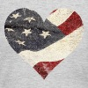 Old USA Flag Heart Long Sleeve Shirts - Women's Long Sleeve Jersey T-Shirt