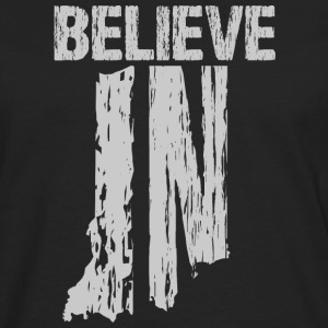 Believe IN Hoodies - Men's Premium Long Sleeve T-Shirt