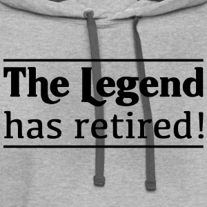 The Legend has Retired T-Shirts - Contrast Hoodie