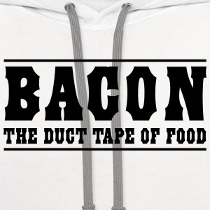 Bacon is the duct tape of food T-Shirts - Contrast Hoodie