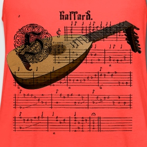 Medieval Lute with Music Sheet women's T-Shirt - Women's Flowy Tank Top by Bella
