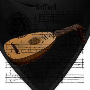 Medieval Lute with Music Sheet men's T-Shirt - Bandana