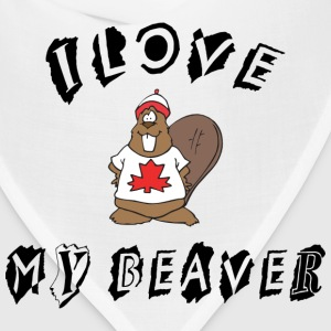 I Love My Beaver T-Shirt - Bandana